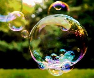 respiriamo con una bolla di sapone